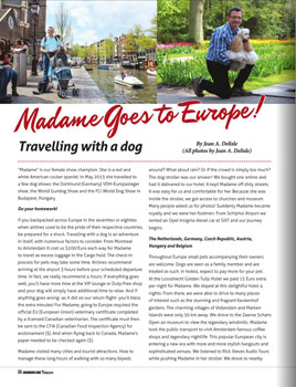 Madame goes to Europe.